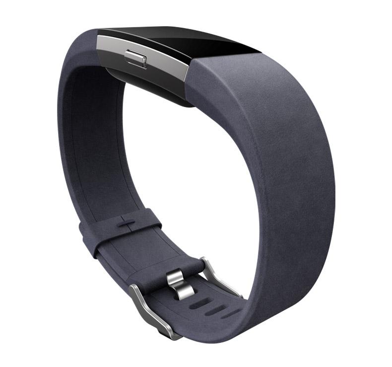 fitbit lederarmband charge 2 indigo l fitnessdigital. Black Bedroom Furniture Sets. Home Design Ideas